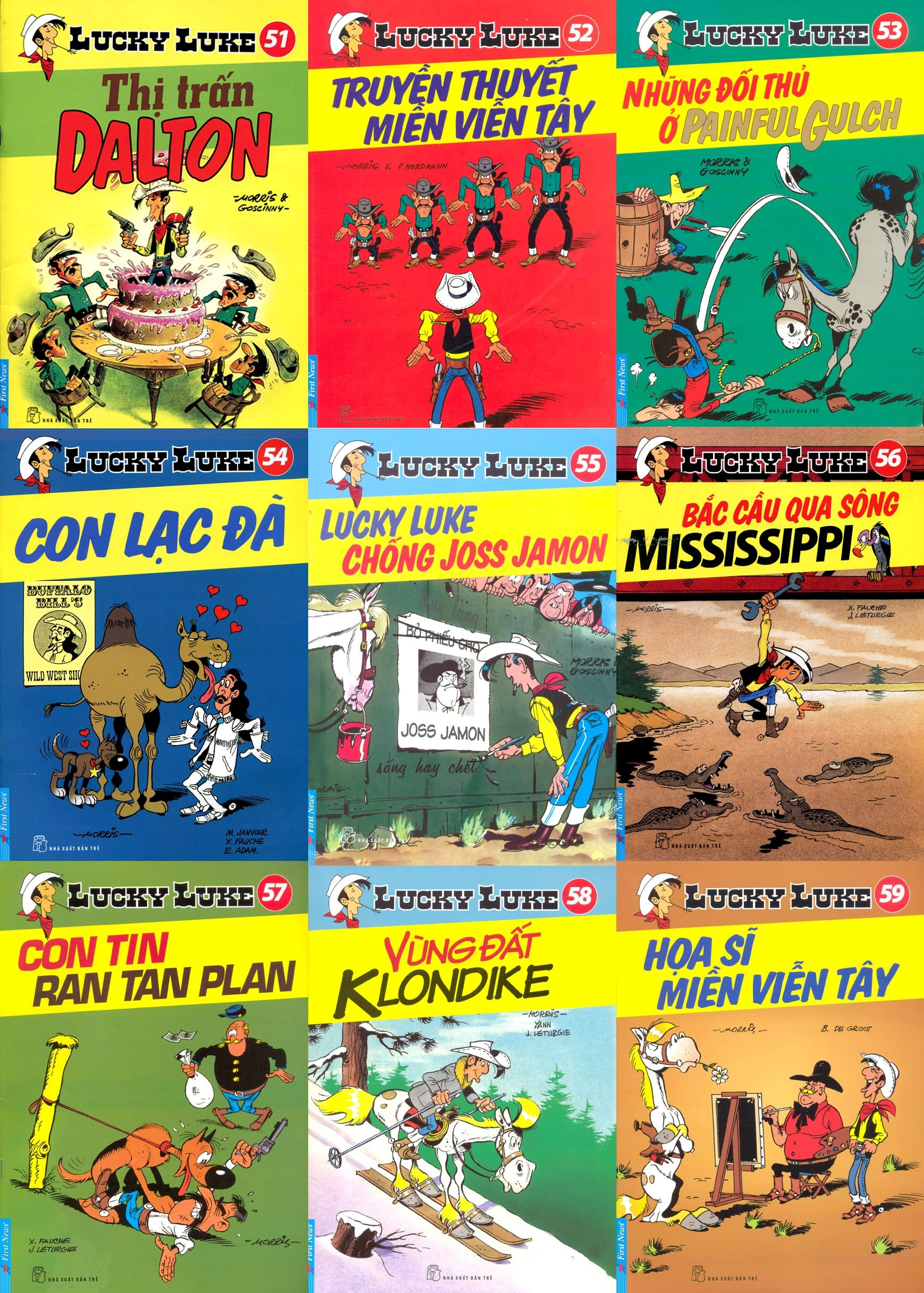 Combo Lucky Luke - Bộ 9 Cuốn (Tập 51 Đến Tập 59)