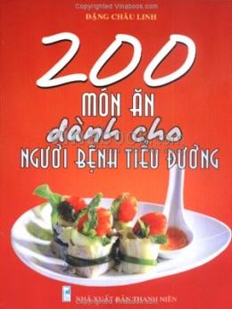 200 Món Ăn Dành Cho Người Bệnh Tiểu Đường