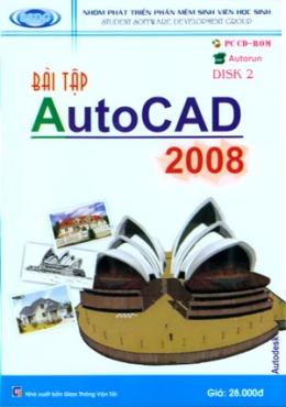 Đĩa CD - Bài Tập AutoCAD 2008 (Disk 2)