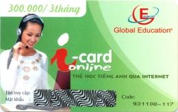 Thẻ Học Tiếng Anh Qua Internet - i-card Online (Thời Lượng 3 Tháng - CD)