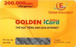 Thẻ Học Tiếng Anh Qua Internet - Golden iCard Online (Thời Lượng 200 Giờ Học - CD)