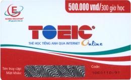 Thẻ Học Tiếng Anh Qua Internet - Toeic Online (300 Giờ Học)