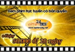 Xem Phim Trực Tuyến Có Bản Quyền - Thẻ e-Enjoy