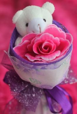 Bông Hoa Gấu - Có 8 Màu Lựa Chọn (Tặng Kèm 1 Tấm Thiệp Gấu Dễ Thương)