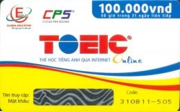 Thẻ Học Tiếng Anh Qua Internet - TOEIC Online (50 Giờ Trong 31 Ngày Liên Tiếp)