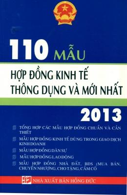 110 Mẫu Hợp Đồng Kinh Tế Thông Dụng Và Mới Nhất 2013