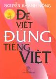Để Viết Đúng tiếng Việt