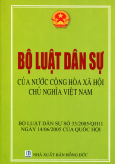 Bộ Luật Dân Sự Của Nước Cộng Hòa Xã Hội Chủ Nghĩa Việt Nam