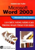 Microsoft Word 2003 - 115 Chức Năng Nâng Cao Trong Soạn Thảo Văn Bản