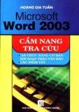 Microsoft Word 2003 - Cẩm Nang Tra Cứu
