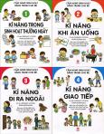 Combo Cẩm Nang Sinh Hoạt Bằng Tranh Cho Bé (Bộ 4 Tập)