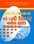Những Sửa Đổi Của Bộ Luật Dân Sự Năm 2005