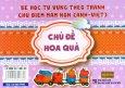 Bé Học Từ Vựng Theo Tranh Chủ Điểm Mầm Non (Anh-Việt) - Chủ Đề: Hoa Quả