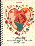 Notebook - The Littlest Feet Make The Biggest Footprints In Our Hearts