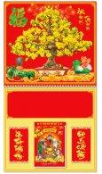 Lịch Lò Xo Giữa - Mai Vàng Tứ Quý (HT 102 - Gắn Bloc)