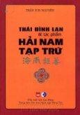 Thái Đình Lan Và Tác Phẩm Hải Nam Tạp Trứ