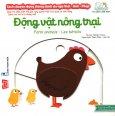 Sách Chuyển Động Thông Minh Đa Ngữ Việt - Anh - Pháp: Động Vật Nông Trại
