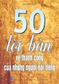 50 Lời Bàn Về Thành Công Của Những Người Nổi Tiếng