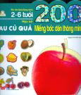200 Miếng Bóc Dán Thông Minh - Nhận Biết Rau Củ Quả (2-6 Tuổi) - Tái Bản 2018