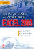 Các tác vụ tự động và lập trình trong Excel 2003
