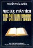 Mục lục phân tích Tạp chí Nam Phong