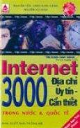 Internet - 3000 địa chỉ uy tín, cần thiết