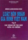 Luật hôn nhân và gia đình Việt Nam (Các quan hệ tài sản giữa vợ chồng)