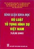 Bình luận khoa học Bộ luật tố tụng hình sự Việt Nam năm 2003
