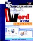 Bí Quyết Và Thủ Thuật Trong Word 2003