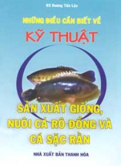 Những Điều Cần Biết Về kỹ Thuật Sản Xuất Giống Nuôi Cá Rô Đồng Và Cá Sặc Rằng
