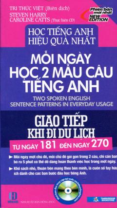 Mỗi Ngày Học 2 Mẫu Câu Tiếng Anh - Giao Tiếp Khi Đi Du Lịch (Từ Ngày 181 Đến Ngày 270)