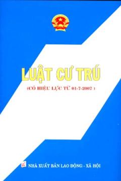 Luật Cư Trú (Có Hiệu lực Từ 01-07-2007)