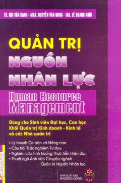Quản Trị Nguồn Nhân Lực - Tái bản 09/2011