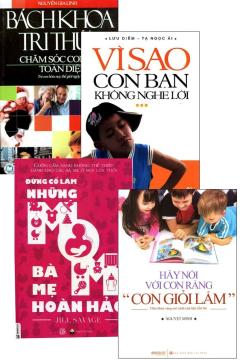 Combo Bách Khoa Tri Thức Chăm Sóc Con Trẻ Toàn Diện (Bộ 4 Cuốn)