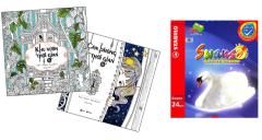 Combo Sách Tô Màu Dành Cho Người Lớn: Căn Phòng Thời Gian + Khu Vườn Thời Gian + Chì Màu Stabilo Swans CL1869-24