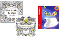 Combo Sách Tô Màu Dành Cho Người Lớn: Khu Vườn Bí Mật + Khu Rừng Bị Phù Phép + Chì Màu Stabilo Swans CL1869-24