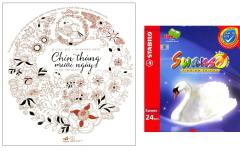 Combo Sách Tô Màu Dành Cho Người Lớn: Chín Tháng Mười Ngày + Chì Màu Stabilo Swans CL1869-24