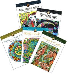 Combo Sách Tô Màu Dành Cho Người Lớn: Cảnh Sắc Tự Nhiên (Bộ 5 Cuốn)
