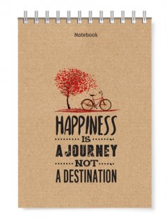 Notebook - Happiness Is A Journey Not A Destination