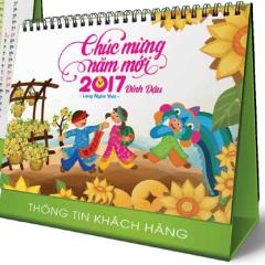 Lịch Bàn Chữ A - Làng Nghề Việt (PN11 - Đế Xanh Lá)