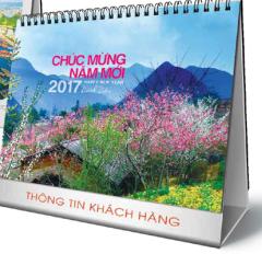 Lịch Bàn Chữ A - Phong Cảnh Việt Nam (PN12 - Đế Trắng)