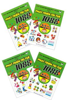 Bộ Sách Rèn Luyện Trí Thông Minh - 1088 Câu Đố Phát Triển Trí Tuệ 4 - 5 Tuổi (Bộ 4 Tập)