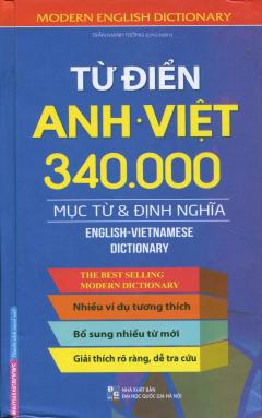 Từ Điển Anh - Việt (340.000 Mục Từ & Định Nghĩa) - Bìa Cứng