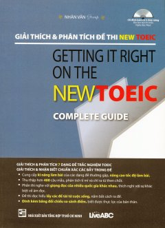 Giải Thích & Phân Tích Đề Thi NEW TOEIC (Kèm 1 CD)