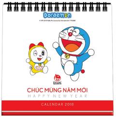Lịch Bàn Doraemon 2018