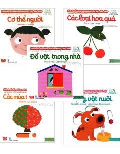 Combo Sách Chuyển Động Thông Minh Đa Ngữ Việt - Anh - Pháp: Cơ Thể Người (Bộ 5 Cuốn)