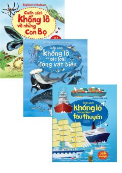 Combo Big Book: Con Bọ + Tàu Thuyền + Động Vật Biển