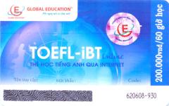 Thẻ Học Tiếng Anh Qua Internet - Toefl-iBT Online (Thời Lượng 60 Giờ Học - CD)