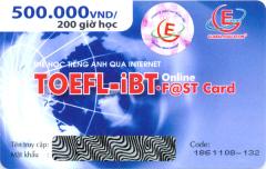 Thẻ Học Tiếng Anh Qua Internet - Toefl-iBT Online (Thời Lượng 200 Giờ Học - CD)
