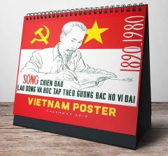 Lịch Bàn Chữ A 2019 - Vietnam Poster